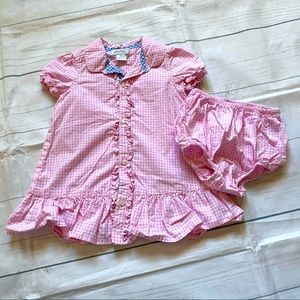 American Living 9 Month Pink Checkered Plaid Dress